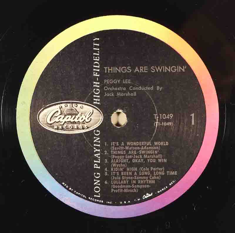 Things are SwinginのA面のレーベル