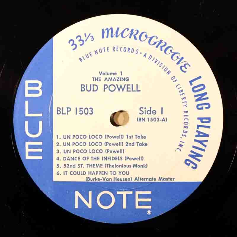 The Amazing Bud PowellのA面のレーベル