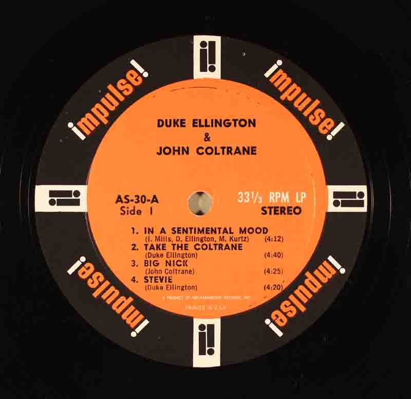 Duke Ellington & John ColtraneのA面のレーベル