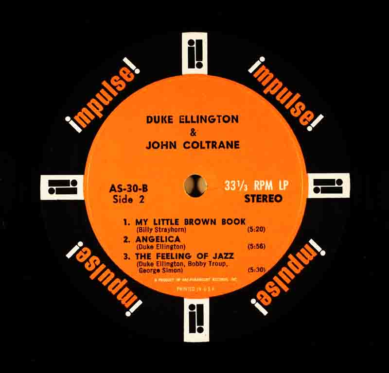 Duke Ellington & John ColtraneのB面のレーベル