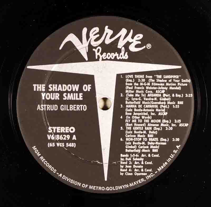 The Shadow of Your SmileのA面のレーベル